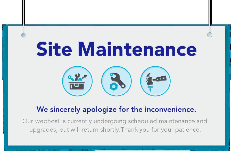 message site en maintenance